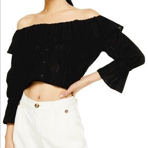 NWT Topshop Cropped Blouse